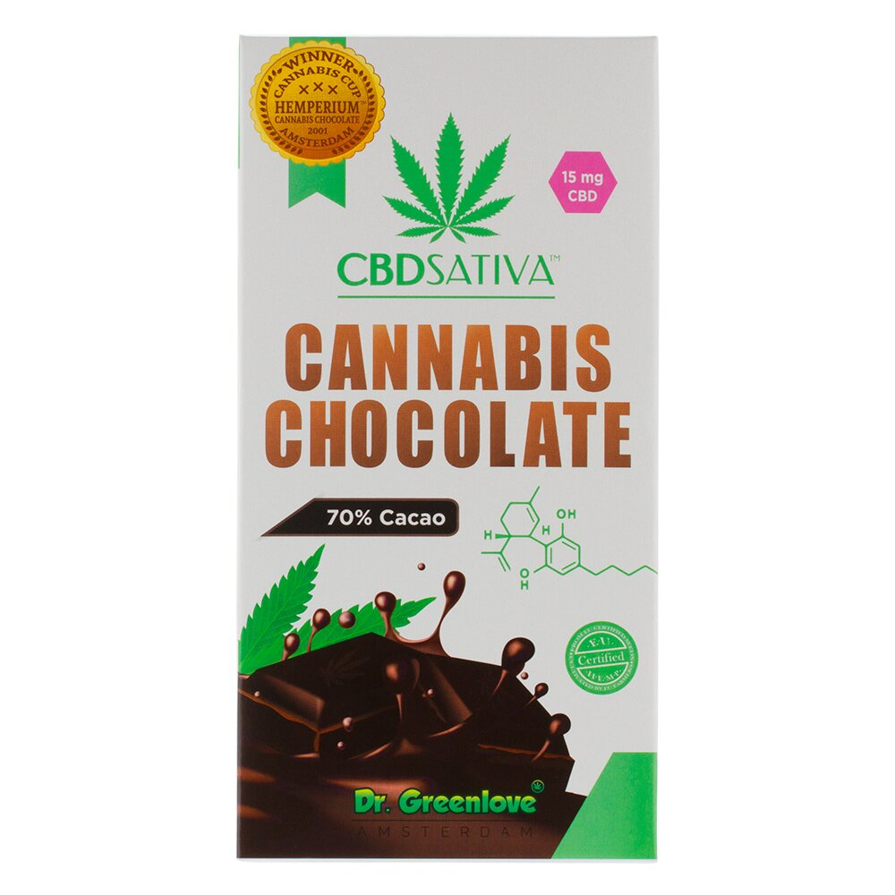 Cbdsativa   Cannabis Chocolate Dark with 70% Cacaco – 15mg CBD