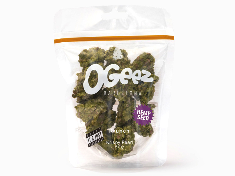 OGEEZ Krunch Krispy Pearl, CBD-Schokolade in Weed-Optik, 7g Small