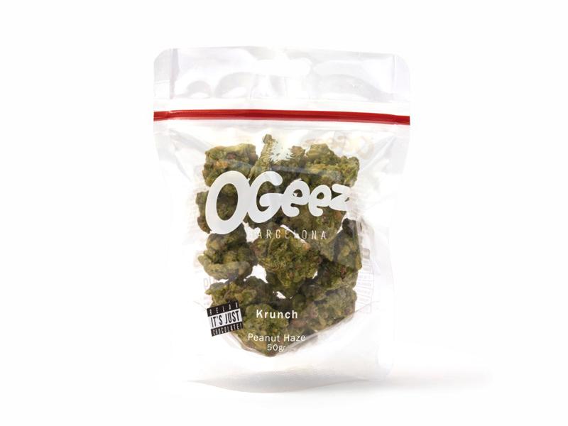 OGEEZ Krunch Peanut Haze, Schokolade in Weed-Optik, 7g