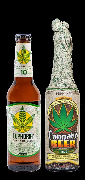 Cannabis Beer Wrap 330ml -leichtes Lagerbier mit natürlichem Hanfblütenextrakt